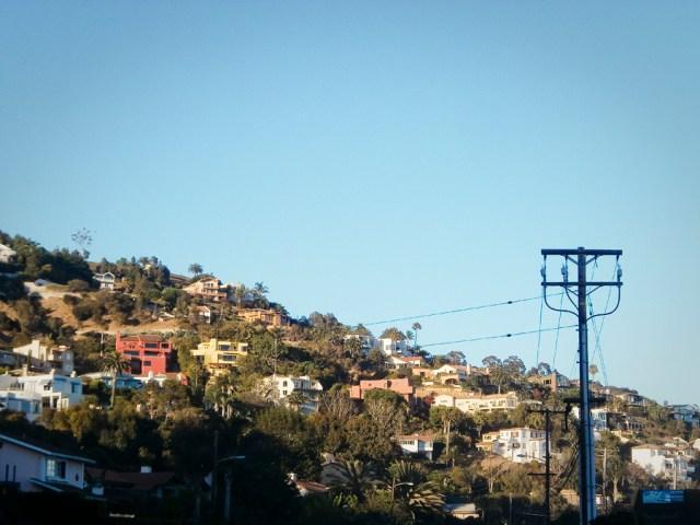 View of houses at Malibu.