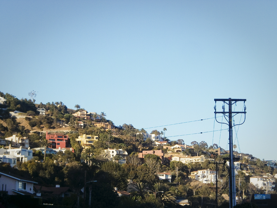 View of houses at Malibu.
