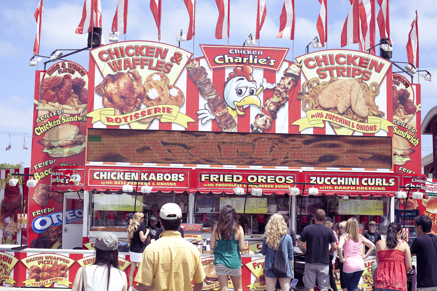 Chicken Charlie's at the Orange County Fair.