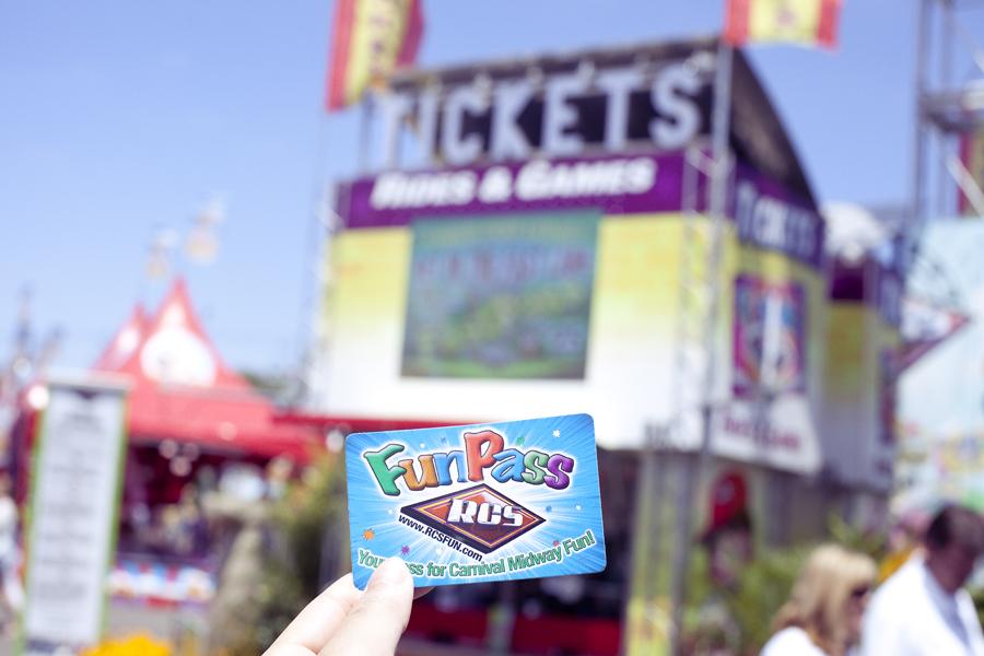 Fun pass card at the Orange County Fair.