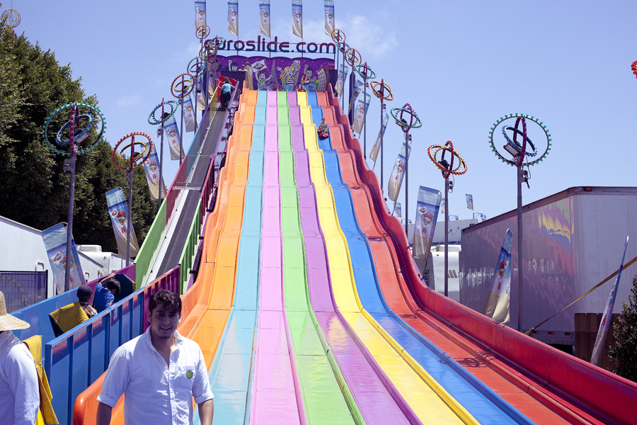 Slide at the Orange County Fair.
