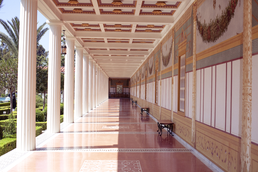 Corridor of the Getty Villa.