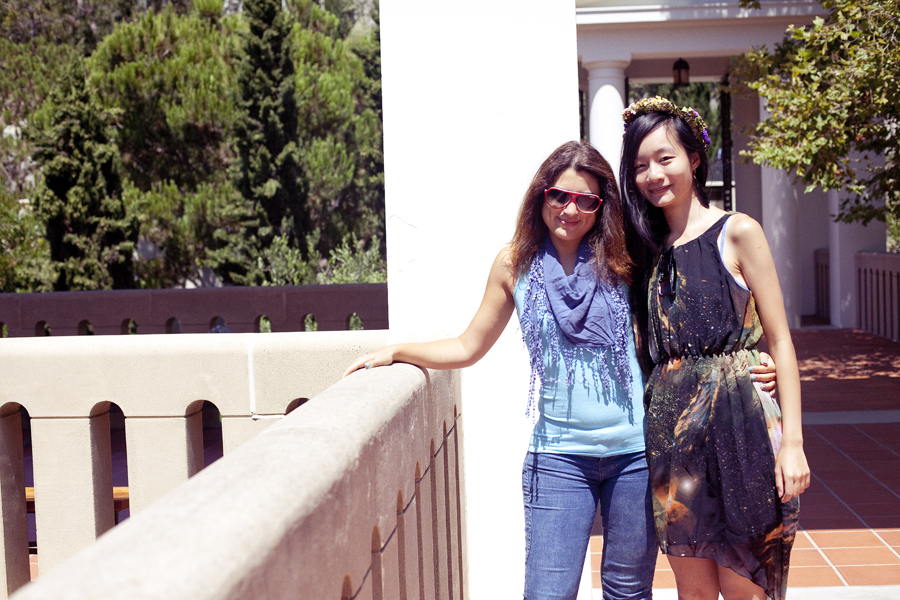 Marta and Ren at the Getty Villa.