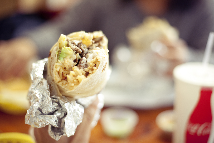 Super Burrito at Taqueria Guadalajara in San Francisco.