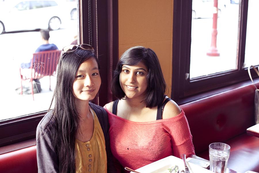 Ren and Jatti at E' Tutto Qua Ristorante e Cafe in San Francisco, California.