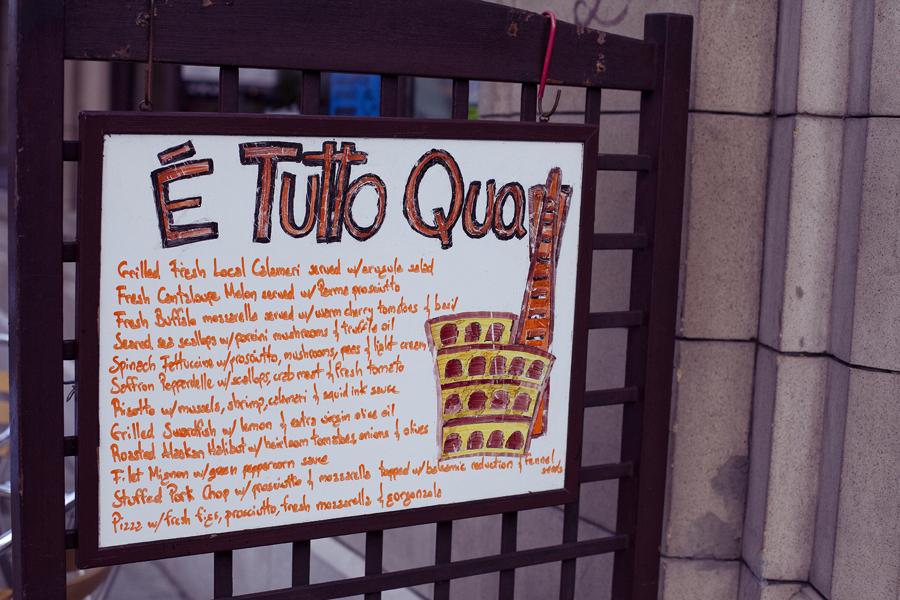 E' Tutto Qua Ristorante e Cafe in San Francisco, California.