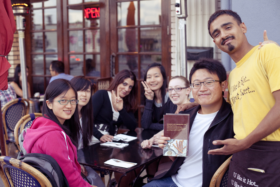 Zen, Qiu, Marta, Ren, Hunter, Json, and Victor from Churros Calientes.