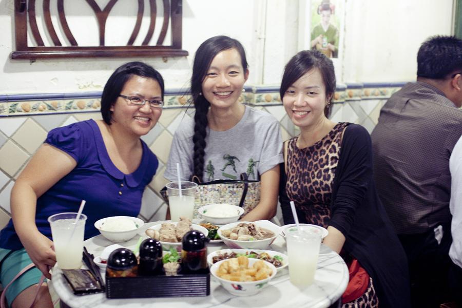 Ren, Puey, and Ade at Songfa Bak Kut Teh.