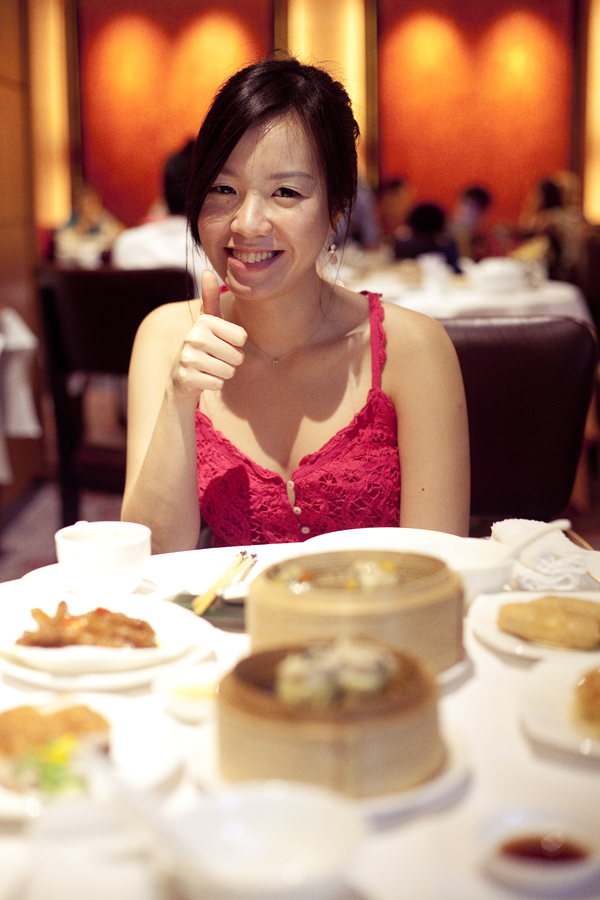 Ade at Li Bai Cantonese Restaurant at Sheraton Towers.