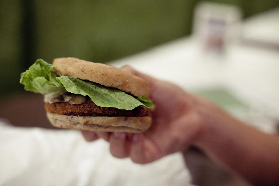 Burger from Vegan Burg.