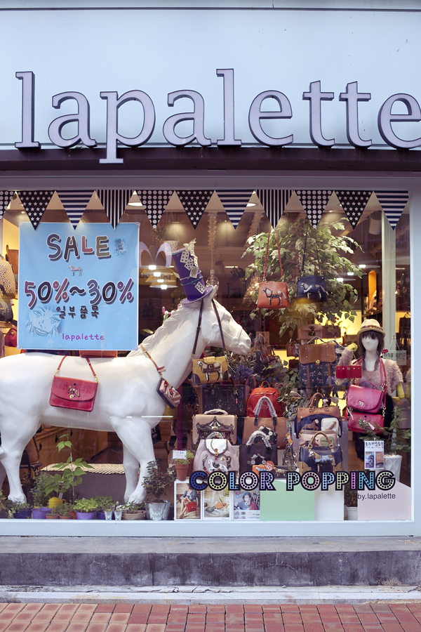 Window display of lapalette in Gumi, South Korea.