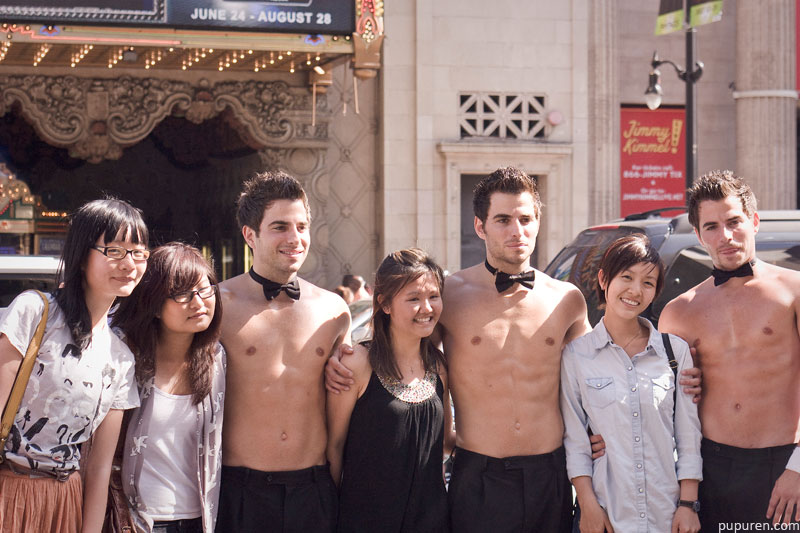 Chippendales lookalikes at Hollywood Star Walk in Los Angeles.