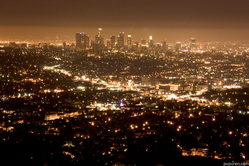 Los Angeles basin at night from Griffith Observatory.