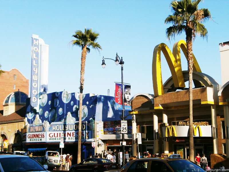 Macdonalds building in Hollywood, Los Angeles.