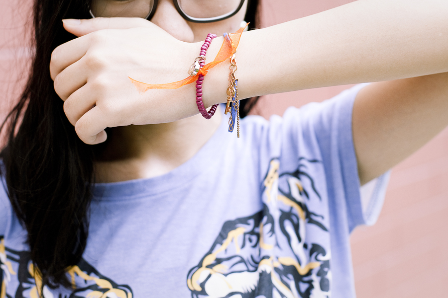 gifted bracelets from Bangkok.