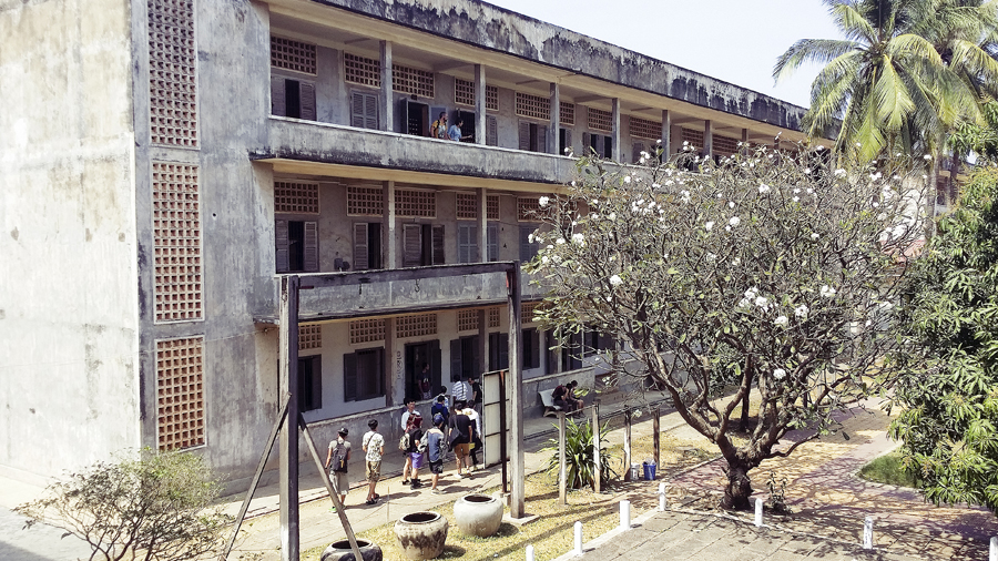 Building of Tuol Sleng (S21), a school that was converted to a torture camp in Phnom Penh, Cambodia.