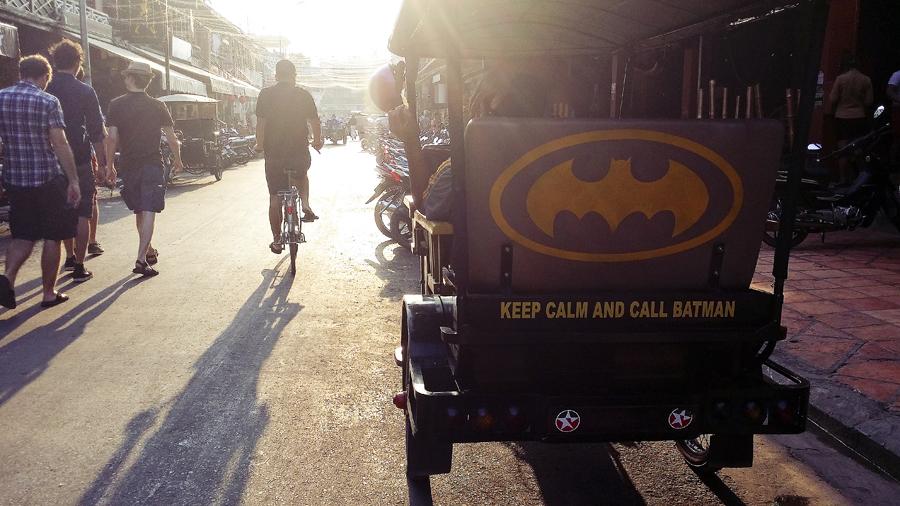 Batman tuk-tuk in Pub Street, Siem Reap, Cambodia.