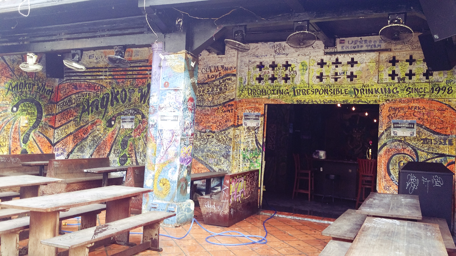 Bar in the daytime in Pub Street, Siem Reap, Cambodia.