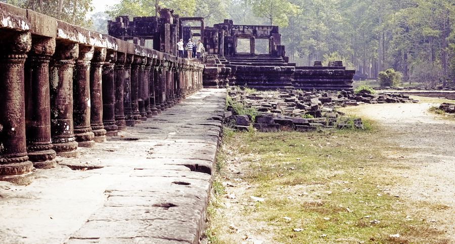 Path leading to the main building of Baphuon in Angkor Thom, Cambodia.