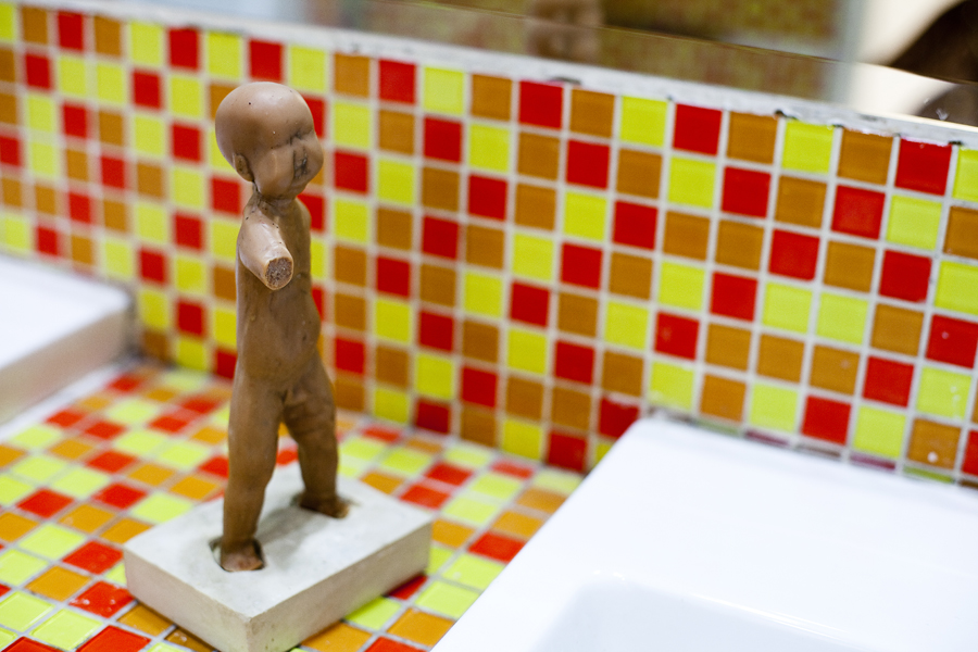 Little Soap Boy by Vu Hong Ninh, in the gents at the Singapore Art Museum.