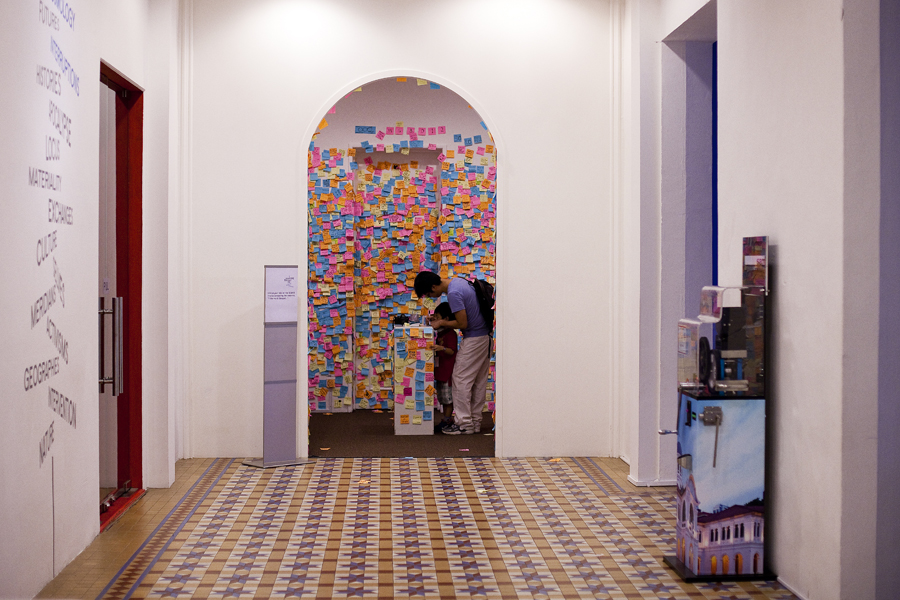 Doodles on Post-it for If The World Changed at the Singapore Art Museum.