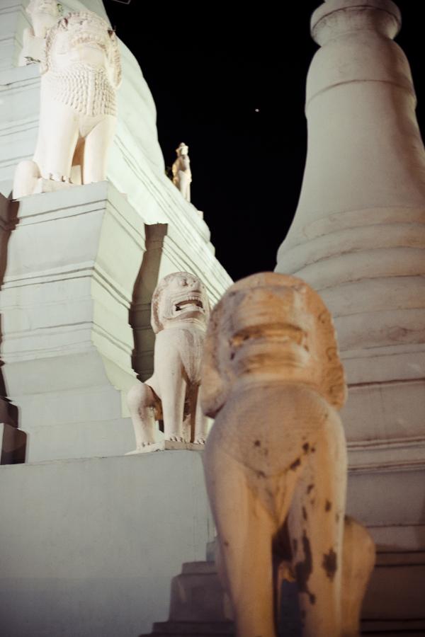 Architecture of Wat Phnom, Phnom Penh, Cambodia.