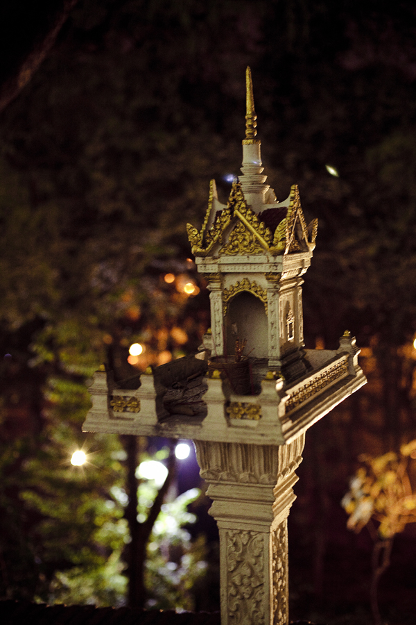 Small shrine in Wat Phnom, Phnom Penh, Cambodia.