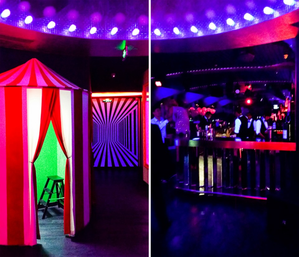 Cirque le Soir nightclub in Shanghai.