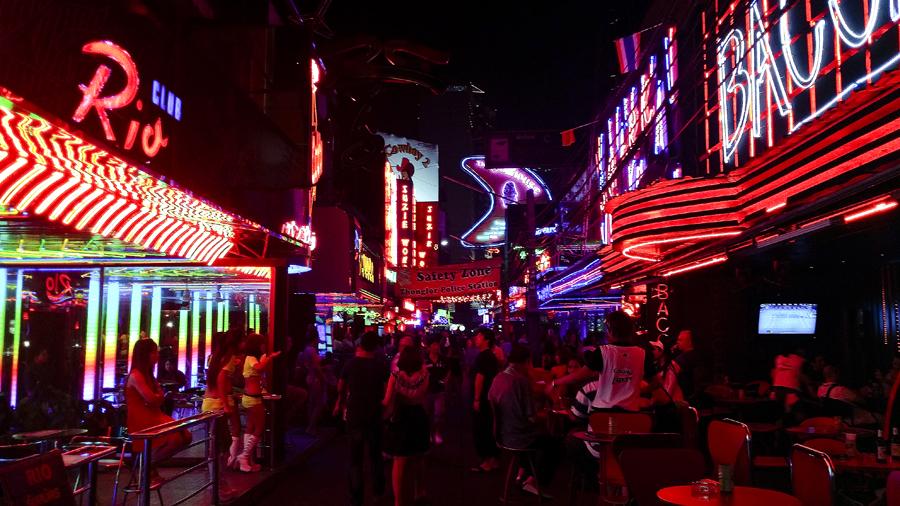 Soi Cowboy in Bangkok, Thailand.