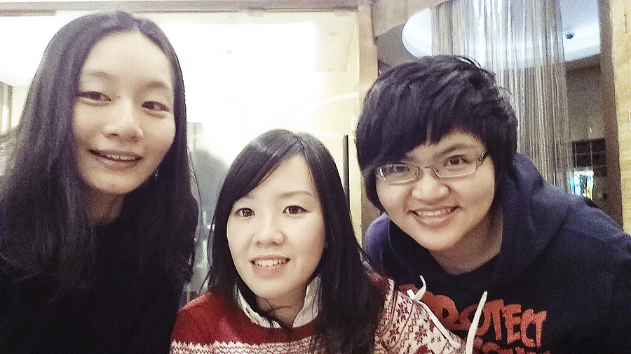 Ren, Ade, and Puey after a haircut at FC Salon, Shanghai.