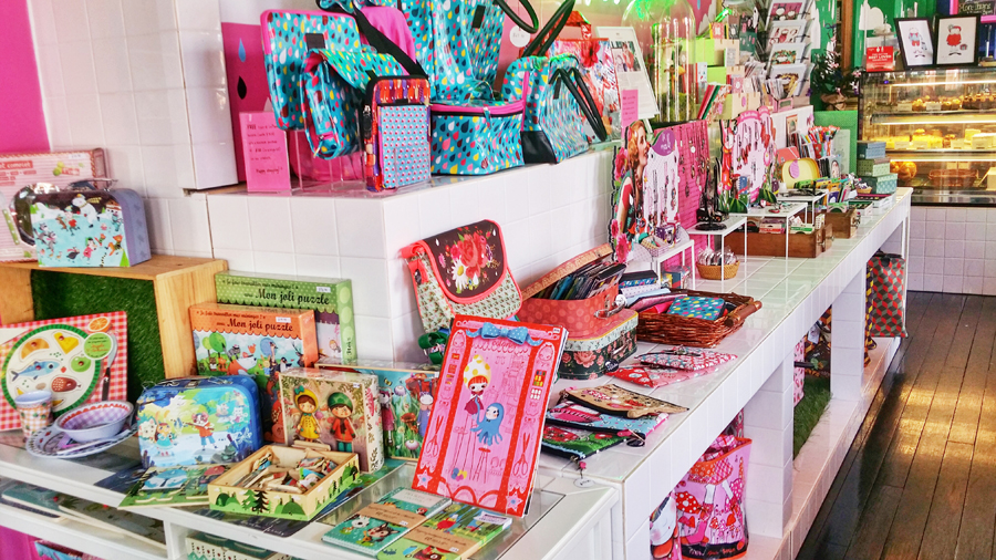 Quirky and colourful items for sale at La Marelle Café & Boutique, Singapore.