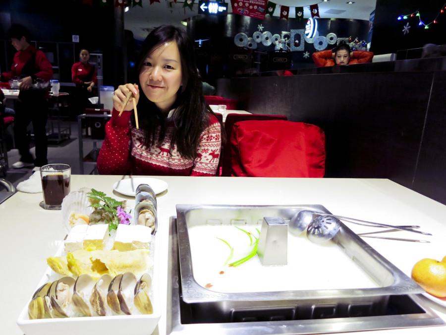 Ade at Hai Di Lao Hotpot Restaurant in Shanghai.