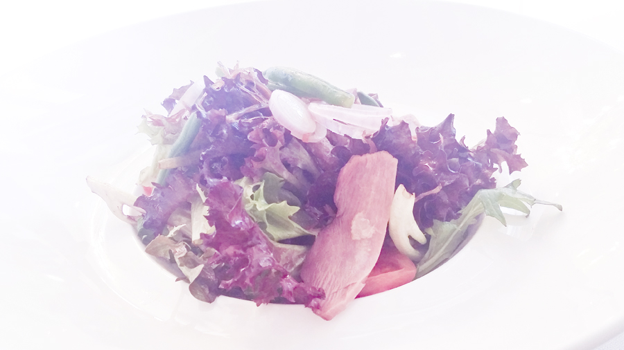 Salade D'canard at the Boathouse Restaurant.