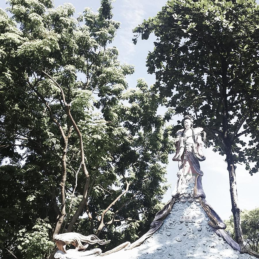 Buddhist statues at Haw Par Villa, Singapore.