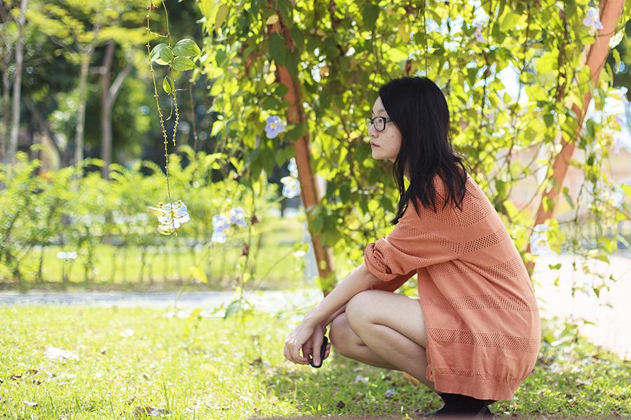 Forever 21 orange oversized cardigan.