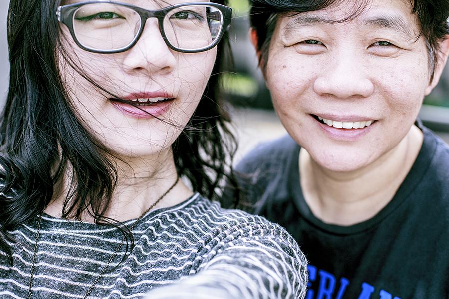Wefie me and my mum.