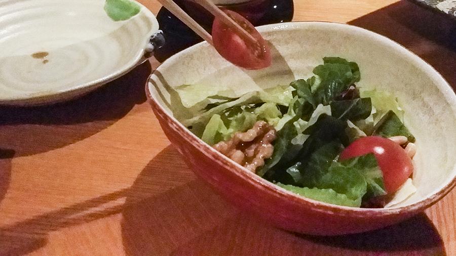 Salad at Momoyama, Lotte Hotel, Myeongdong, Seoul, Korea.
