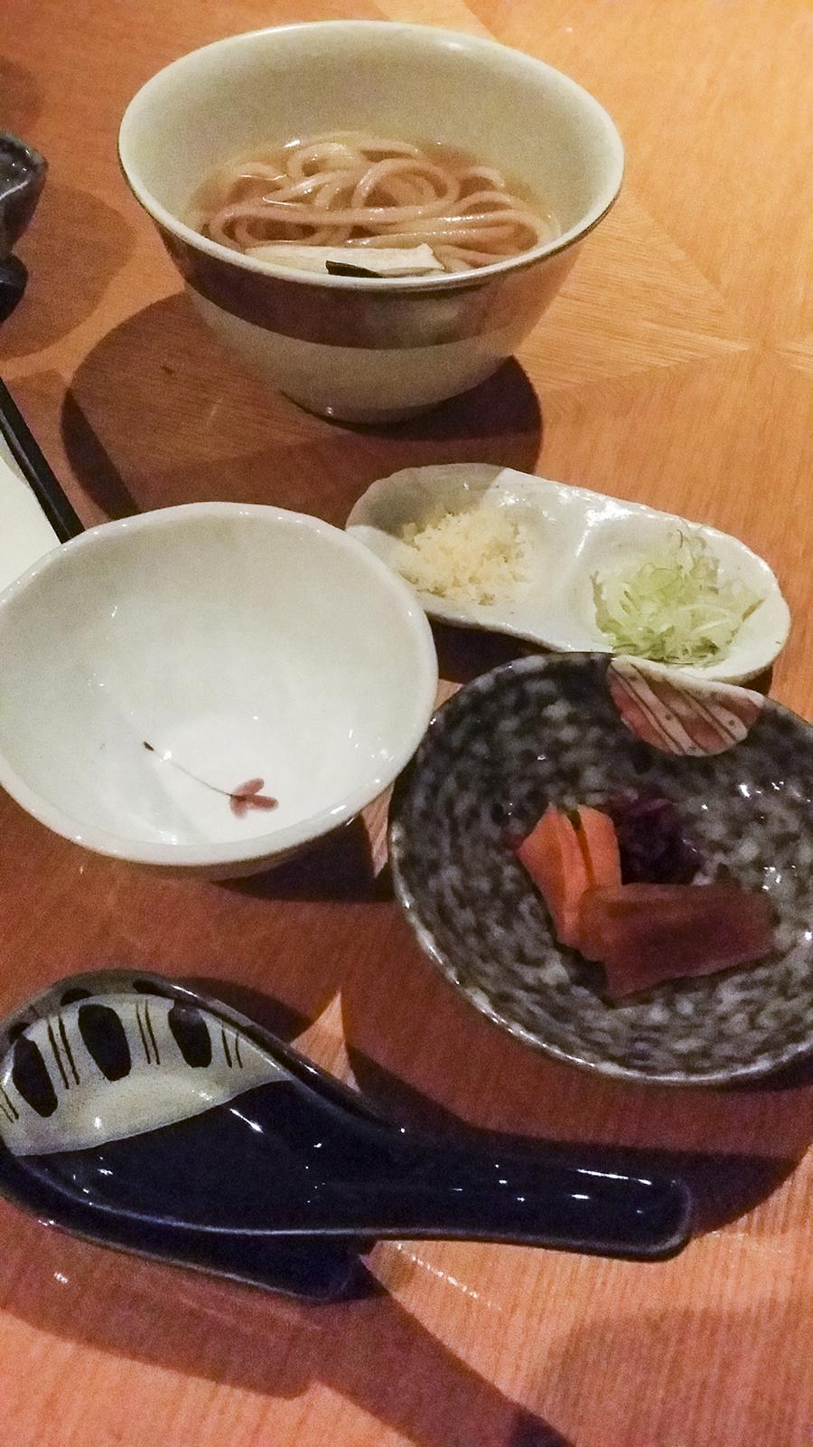 Udon at Momoyama, Lotte Hotel, Myeongdong, Seoul, Korea.