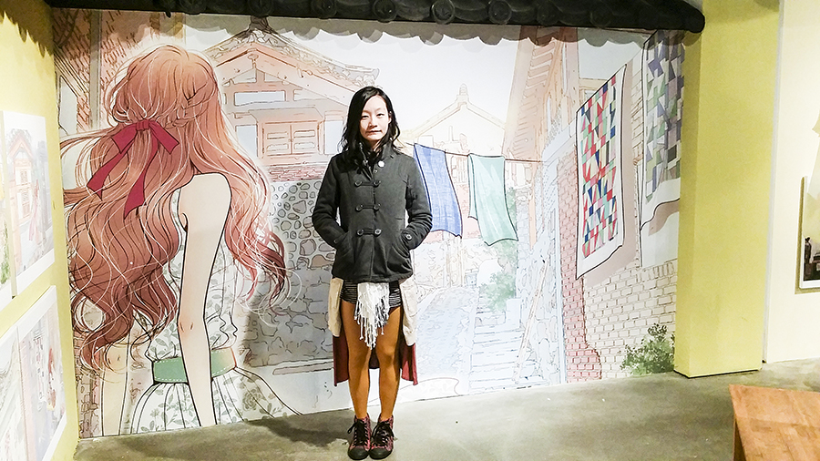 At the Won Soo Yeon exhibition at Seoul Comics Space Zaemirang at Zaemiro Seoul Comics Road, South Korea.