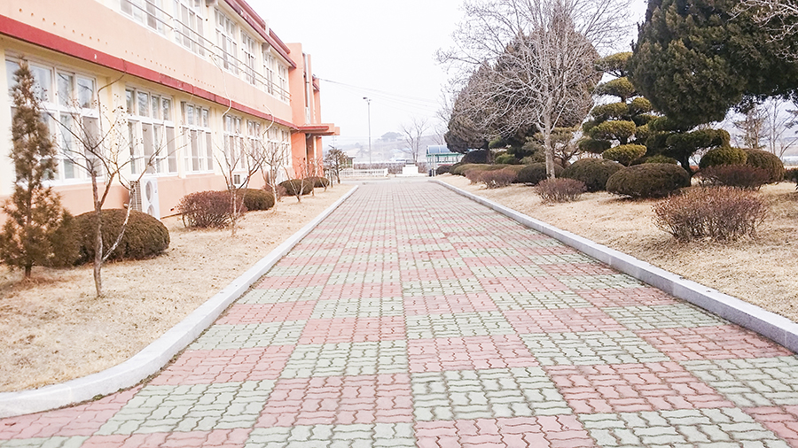 School grounds in Sangju, South Korea.
