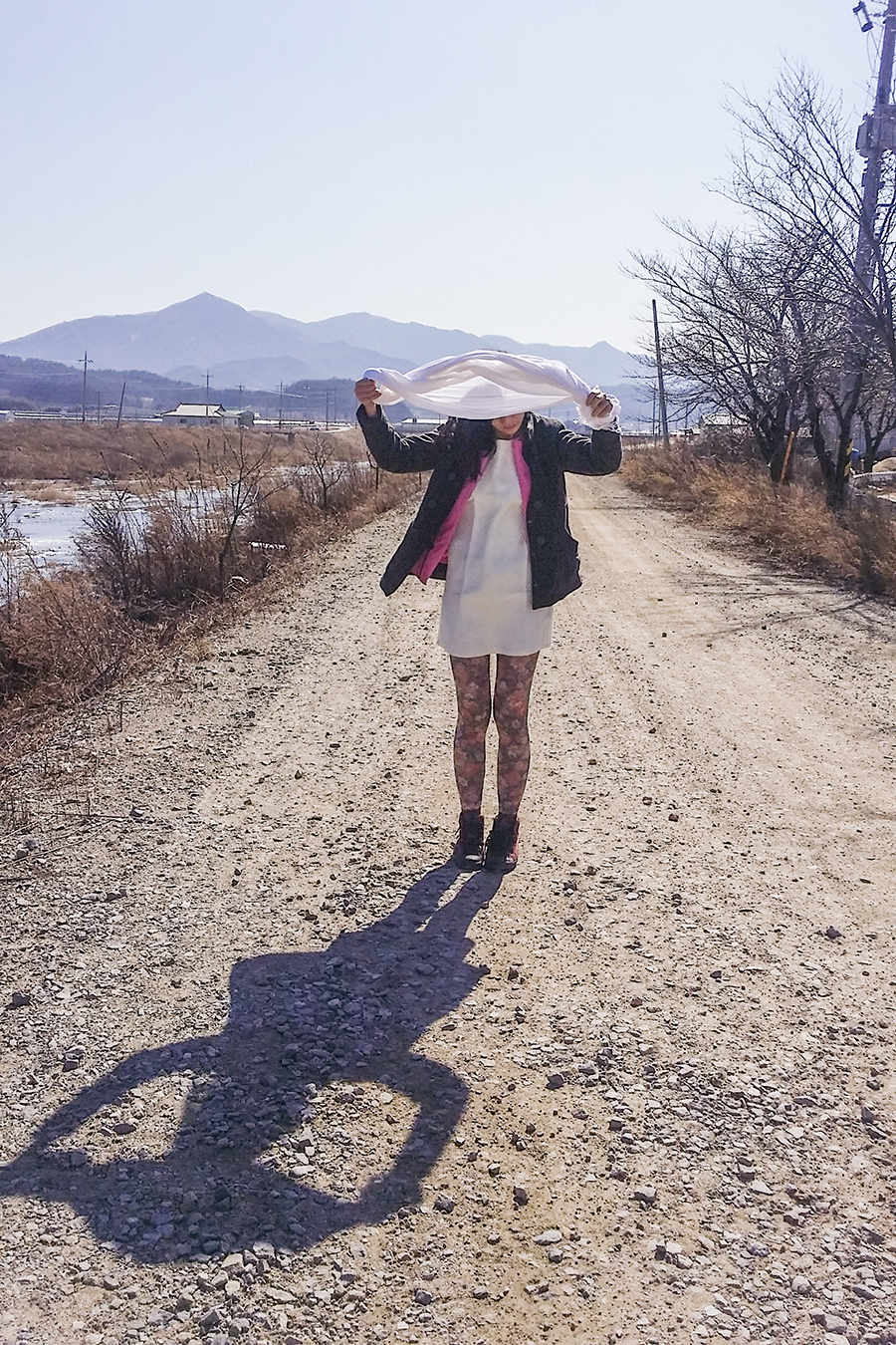 Outfit by the river in Sangju, South Korea.