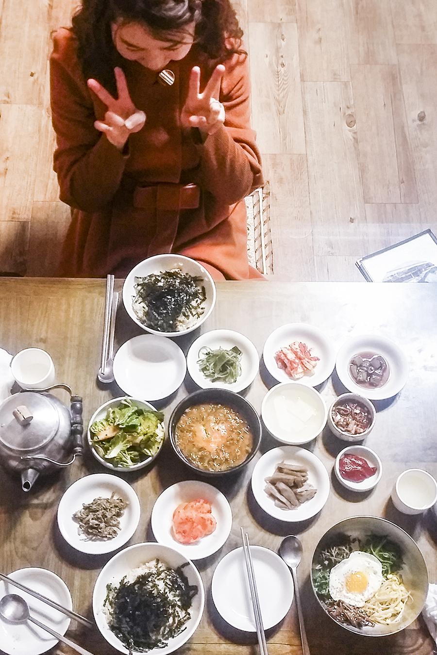 Feast for dinner with HaeY-sem in Sangju, South Korea.