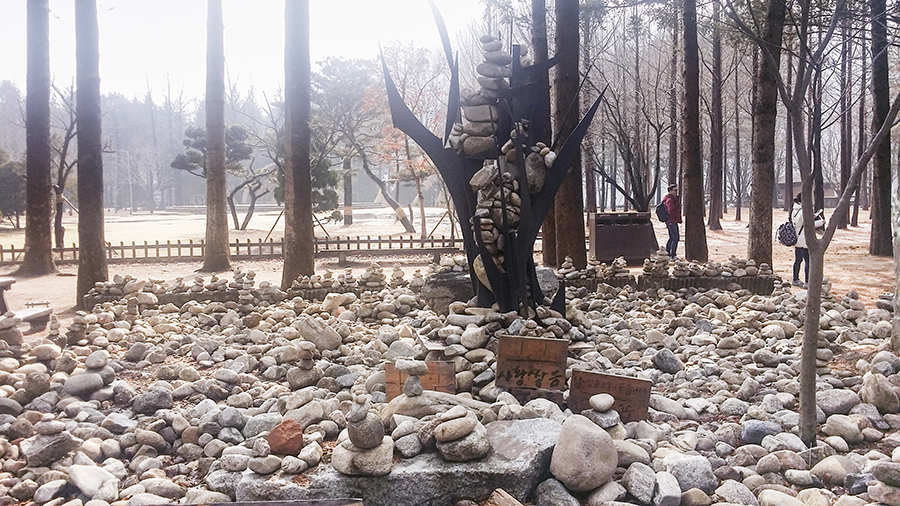 Stone sculpture at Nami Island, Gapyeong, South Korea.