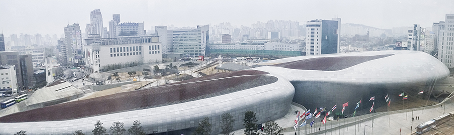 Dongdaemun Design Plaza, Seoul, South Korea.