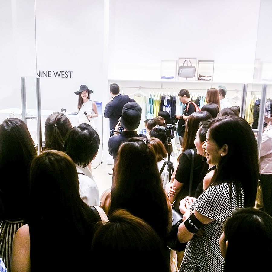 Nine West Spring Summer 2015 SS15 Collection preview launch and opening at Suntec, Singapore.