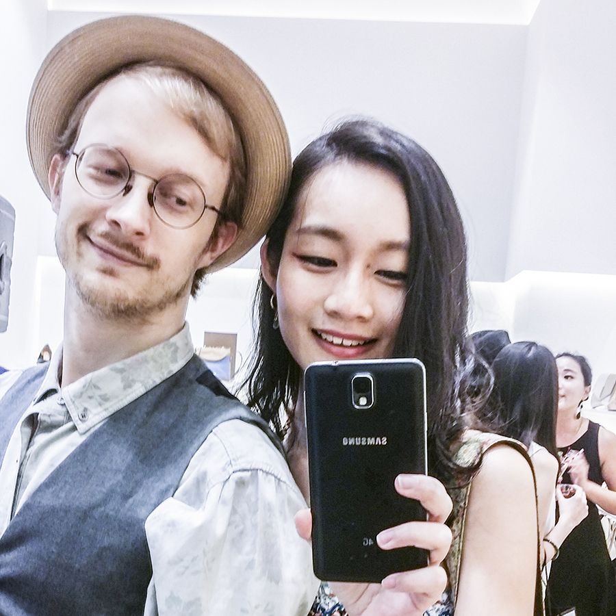 Mirror selfie at the Nine West SS15 Collection launch preview at Suntec, Singapore.