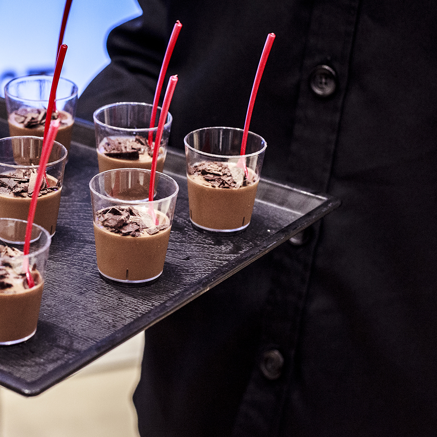 Chocolate mousse dessert served at the Nine West SS15 Collection launch preview at Suntec, Singapore.