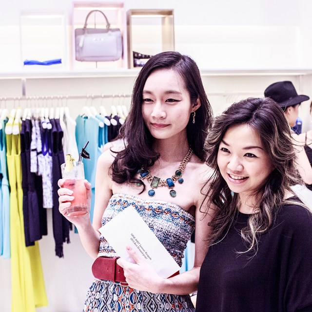 Winning best dressed at the Nine West SS15 Collection launch preview at Suntec, Singapore.