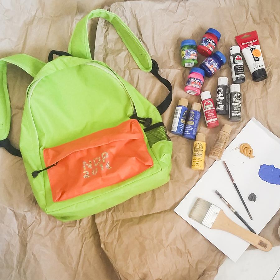 DIY paint on NDP 2014 green & orange fun pack