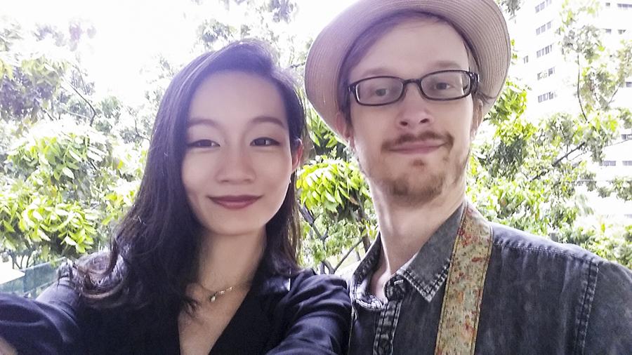 Selfie of Ren and Ottie.